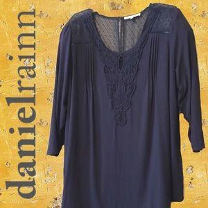 2for$30 DANIEL RAINN DALINA Crochet Knit Tunic
